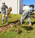 116th Civil Engineering Squadron repair drainage problem 130413-Z-XI378-007.jpg