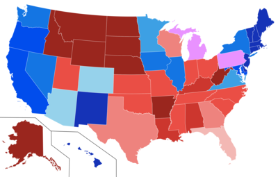 Political Parties By State Map.Political Party Strength In U S States Wikipedia