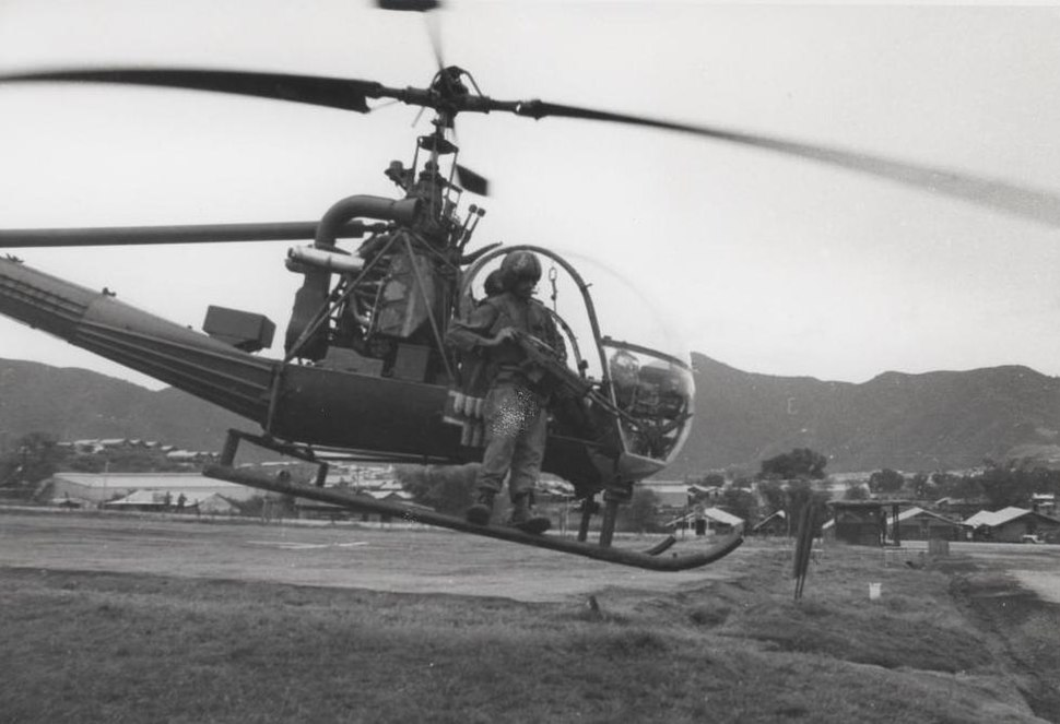 11th Marines OH-23 light observation helicopter