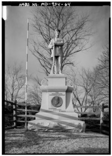 130TH PENNSYLVANIA VOLUNTEER INFANTRY MONUMENT, NORTH SIDE OF BLOODY LANE - Antietam National Battlefield, Sharpsburg, Washington County, MD HABS MD,22-SHARP.V,9-64.tif