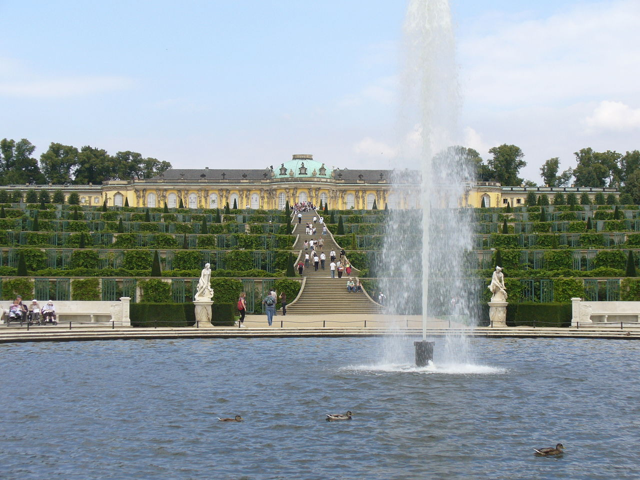 132.Französisches Rondell Große Fontäne - Sanssouci Steffen Heilfort.JPG