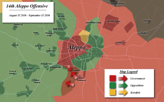 Aleppo offensive (August–September 2016) - Map of the offensive