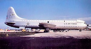 1700th Air Transport Group - XC-99 at Kelly AFB, Texas while attached to the Military Air Transport Service 1700th Air Transport Group, 1954.