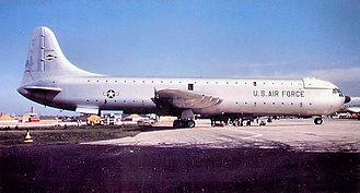 Convair XC-99 - XC-99 at Kelly AFB, Texas while attached to the Military Air Transport Service 1700th Air Transport Group, 1954. Note San Antonio Air Materiel Area (SAAMA) tail marking, indicating the aircraft was assigned to the Air Materiel Command.