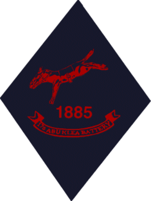 Battle of Abu Klea - The emblem of 176 (Abu Klea) Battery Royal Artillery