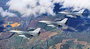 115th Fighter Wing - Image: 176th Fighter Squadron 3 ship formation