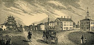 Lenox, Massachusetts - View of Lenox in 1839