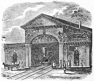 Lynn (MBTA station) - Woodcutting of the 1848 station