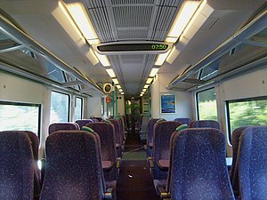 The interior of Standard Class aboard the Siemens Class 185 Pennine Desiro