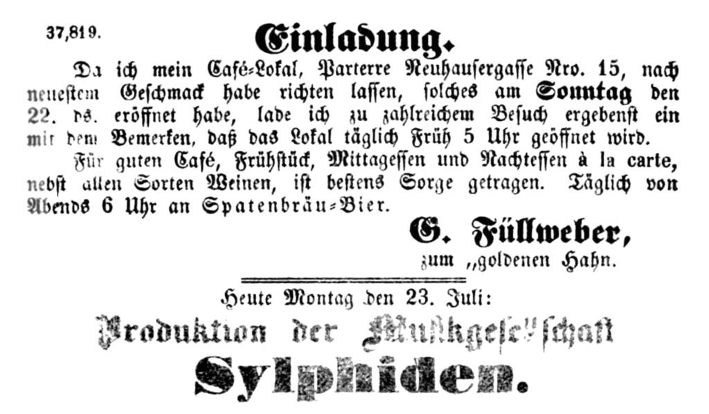 file:1855-07-23 einladung ins café-lokal neuhausergasse 15 (g, Einladung