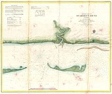 An 1859 US Coast Survey Map Or Nautical Chart Of St George Sound Florida The Part Tates Hell State Forest Just Southwest Tallahassee