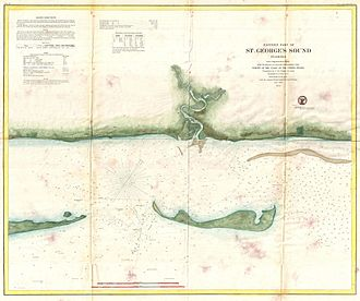 Florida Panhandle - An 1859 U.S. Coast Survey map or nautical chart of St. George Sound, Florida, the coast part of Tate's Hell State Forest, just southwest of Tallahassee, along the Florida Panhandle.