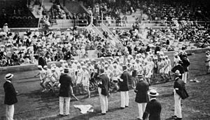 Athletics at the 1912 Summer Olympics – Men's marathon - The start