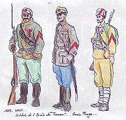 Mundury żołnierzy Armii Czerwonej z 1919 r.