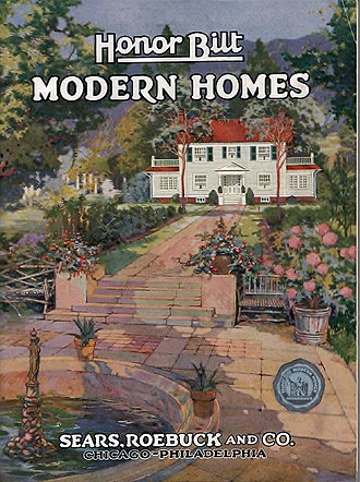 Sears Catalog Home - Cover of 1922 Sears Modern Homes catalog