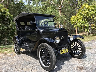 Ford Model T type of car; first automobile mass-produced on assembly lines