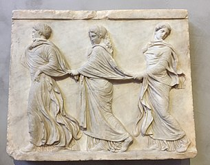 Relief of Three Dancing Nymphs