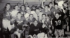 1951 Maryland Terrapins football team - The team celebrates after its Sugar Bowl victory.