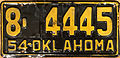 1954 Oklahoma license plate.jpg