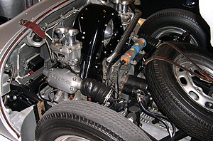 Flat-four engine - Flat-four engine in a 1955 Porsche 550 Spyder