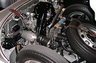 Flat-four engine - Flat-four engine in a 1955 Porsche 550 Spyder