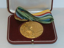 1980 Summer Olympics – Dainis Kūla gold medal.jpg