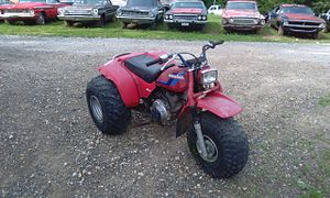 All-terrain vehicle - 1984 Honda ATC 200s, one of the many three-wheeled models made by Honda and other manufacturers