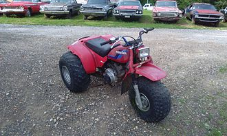 All-terrain vehicle - 1984 Honda ATC200S, one of the many three-wheeled models made by Honda and other manufacturers