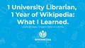 1 University Librarian, 1 Year of Wikipedia.pdf