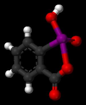 2-Iodoxybenzoic acid - Image: 2 iodoxybenzoic acid from xtal 1997 3D balls