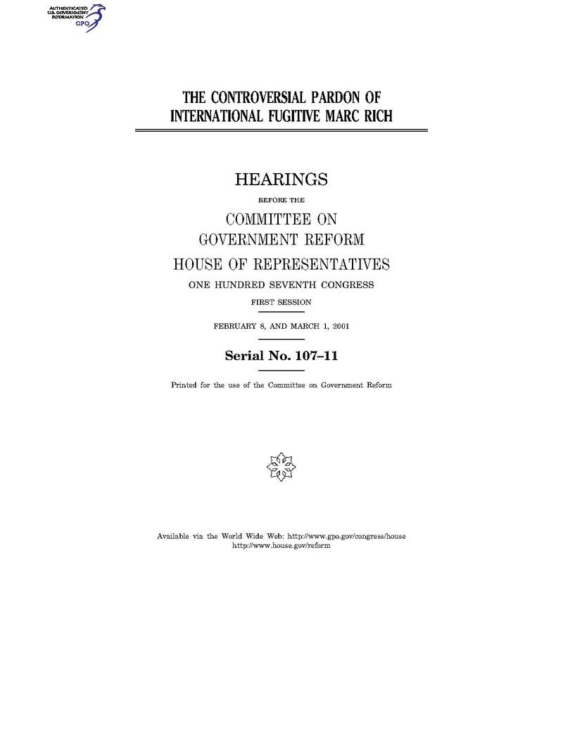 2001 The Controversial Pardon of International Fugitive Marc Rich.pdf