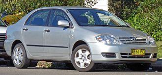 Toyota Corolla (E120) - 2004-2007 Toyota Corolla Ascent sedan (ZZE122; Australia)