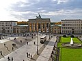 Brandenburg Gate and Paris Place in Berlin