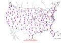 2006-03-18 Max-min Temperature Map NOAA.png