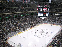 Dentro del Xcel Energy Center durante la WCHA Final Five Championship 2006.