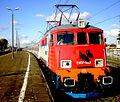 "2007.10.21 Gdynia Chylonia, Polish EU07-523 loco with ""Opolanin"" Express train (Gdynia - Opole) waiting to depart - Flickr - faxepl.jpg"