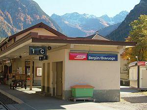 Bergün/Bravuogn (Rhaetian Railway station) - Bergün/Bravuogn station building