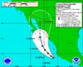 2007 Storm Tropycal Henriette Sep,2 2-00 AST 5-days.png