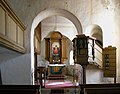 20110418420DR Schmorkau (Oschatz) Dorfkirche Altar Kanzel.jpg