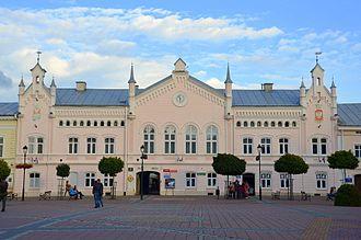 Sanok - Neogothic town hall