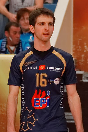 Nicolas Rossard - Image: 20130330 Tours Volley Ball Spacer's Toulouse Volley Nicolas Rossard 01