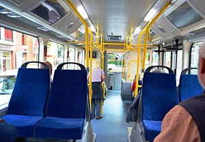 BYD K9 - BYD electric bus interior in Germany.