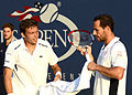 2014 US Open (Tennis) - Tournament - Michael Llodra and Nicolas Mahut (15126814851).jpg