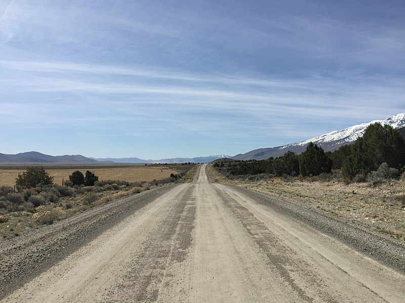 File:2015-04-04 10 55 03 View south along Ruby Valley Road ...