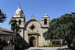 Mission San Carlos Borromeo de Carmelo located on Rio Road off of Highway 1 at the mouth of Carmel Valley