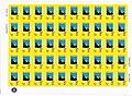 2015. Герб Шахтерска на листе почтовых марок.jpg