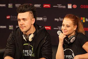 Slovenia in the Eurovision Song Contest 2015 - Maraaya at a press meet and greet
