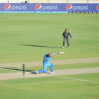 Rohit Sharma - Rohit Sharma hitting a Six