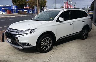 Mitsubishi Outlander type of crossover SUV manufactured by Mitsubishi