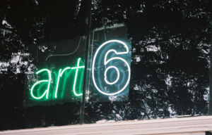 Art6 - 2016-05-03 2217 Neon sign designed for art6 gallery by neon artist Robert Ziegler